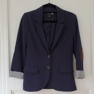 Forever 21 Navy Blazer with Elbow Patches